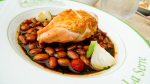 Chicken with cannelloni beans & chorizo